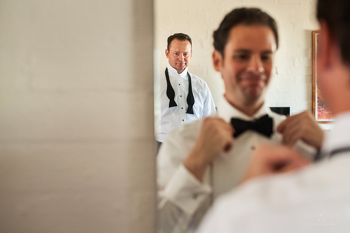 groom gets ready at the Sanctuary Resort