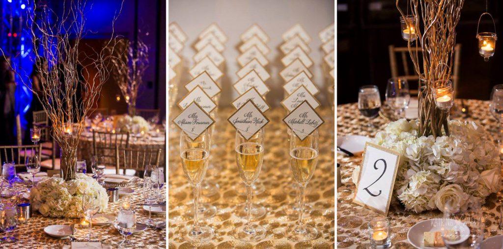 Sanctuary Jewish wedding reception details Katrina and Andrew Photography