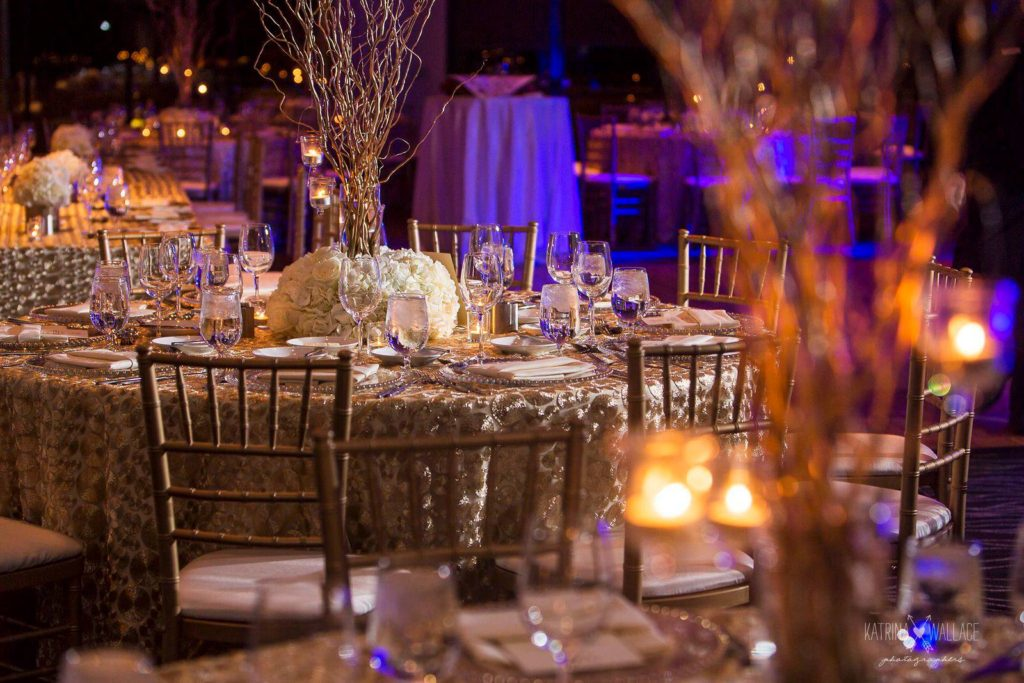 Sanctuary Jewish wedding reception details Katrina and Andrew Photography