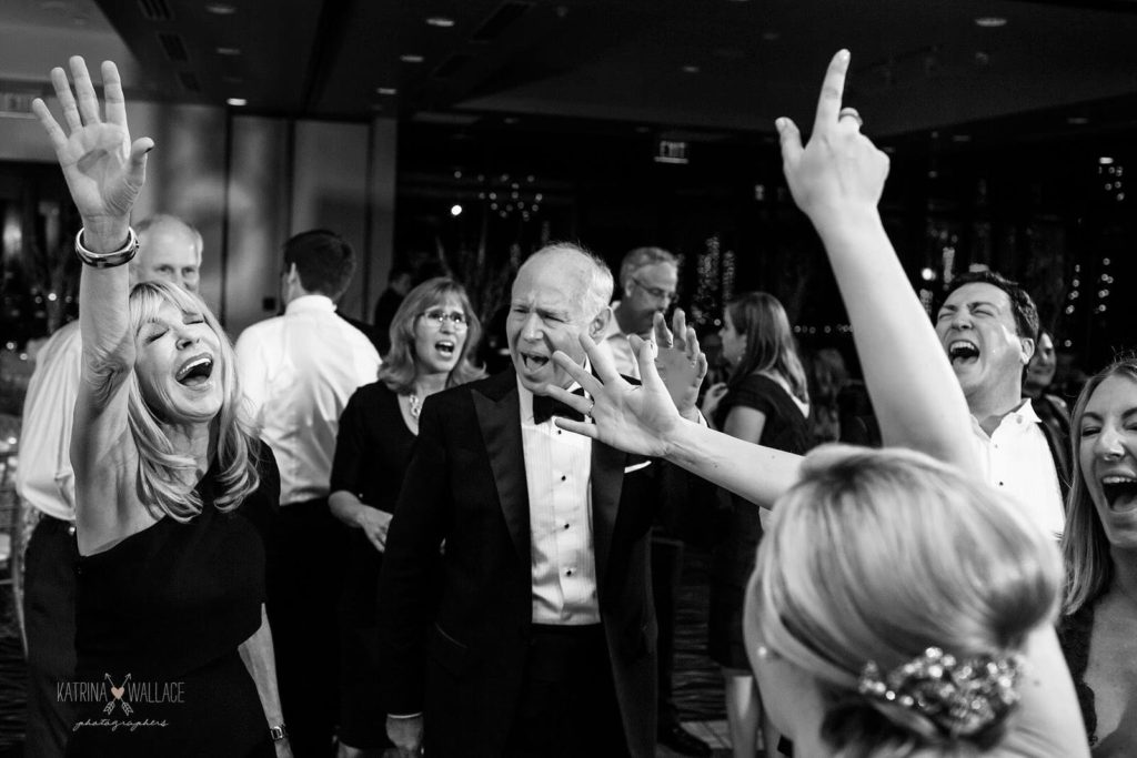 Sanctuary wedding reception dance Katrina and Andrew Photography