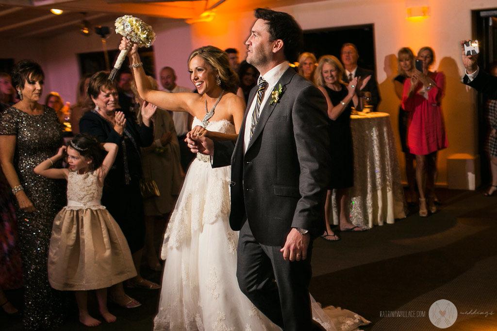 El Chorro wedding reception Kati + Alex make their grand entrance