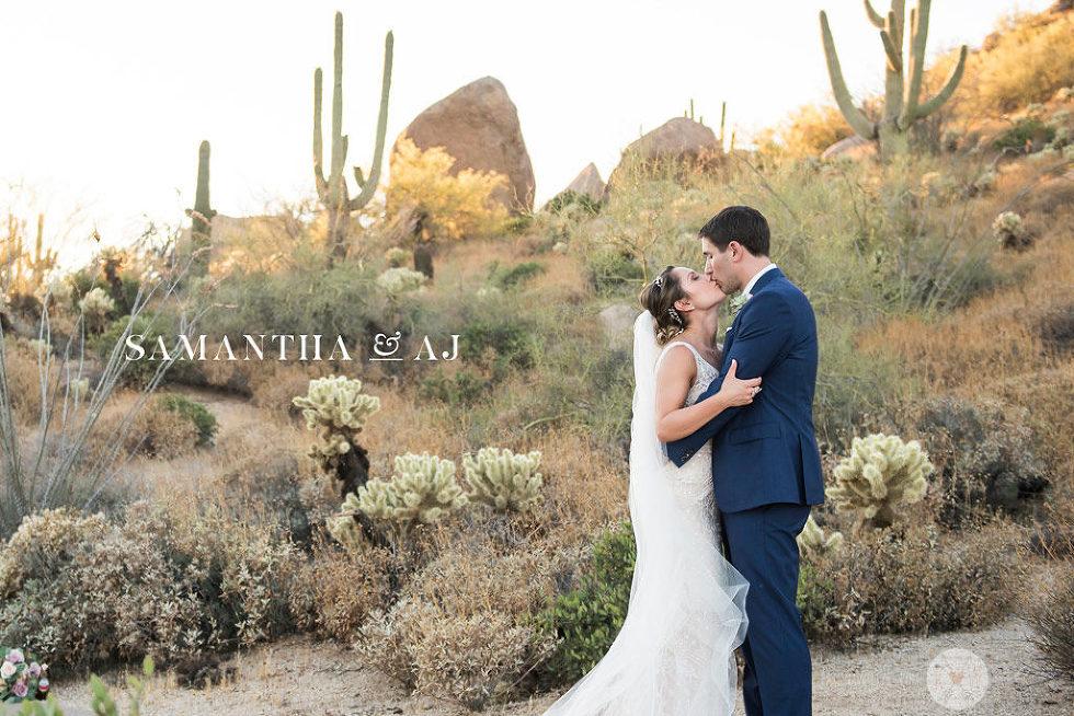 Four Seasons Scottsdale romantic wedding portraits