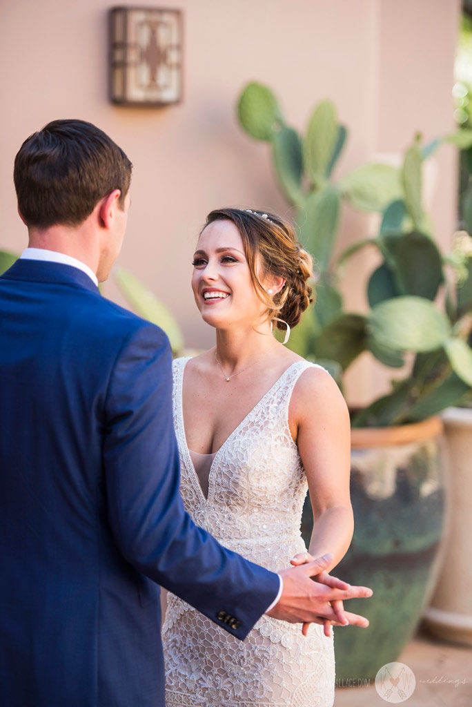 The first meeting for the bride and groom at the Four Seasons Scottsdale