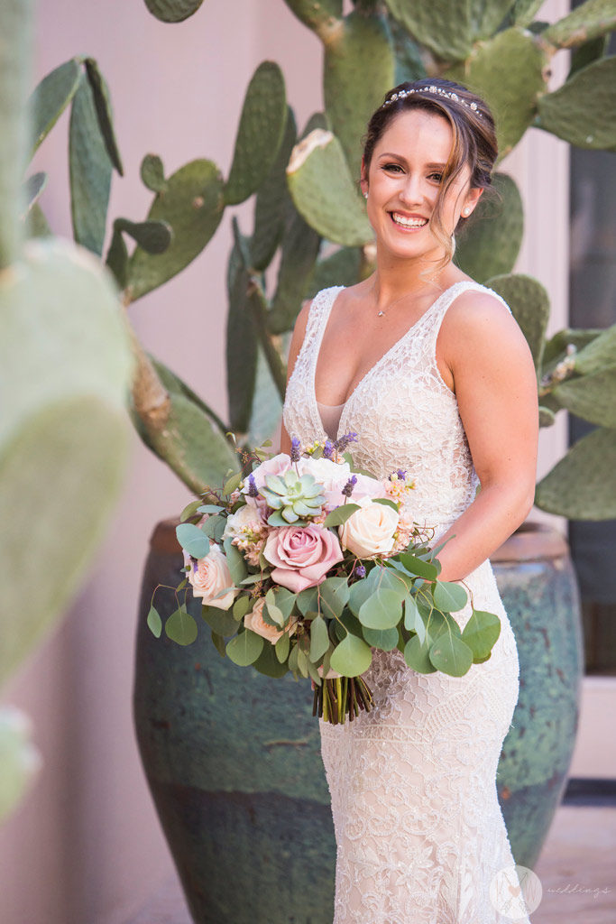 A portrait of a bride at Four Seasons Scottsdale Arizona wedding photography